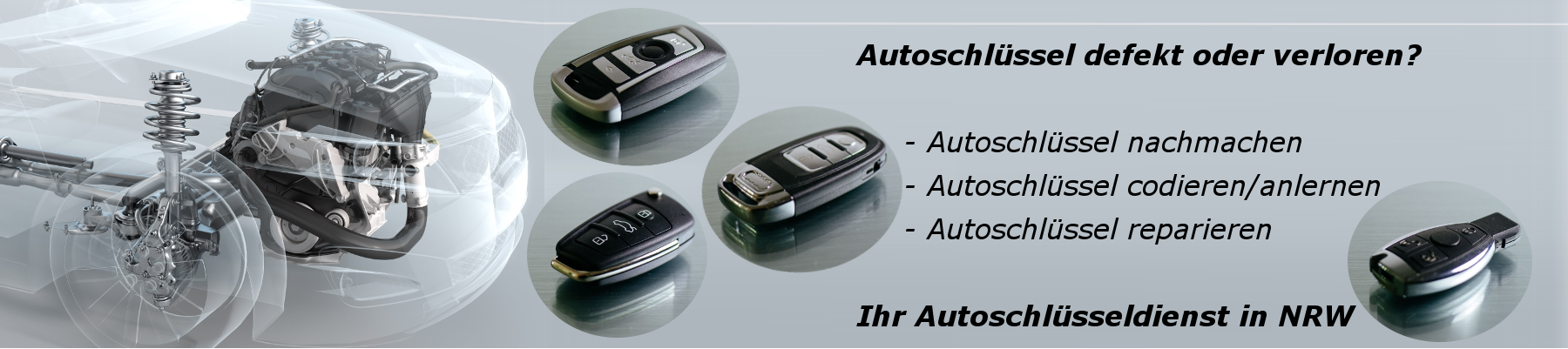 Slidergrafik: Autoschlüssel nachmachen.
